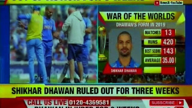 ICC World Cup 2019: Shikhar Dhawan Injured, Ruled Out For 3 Weeks | NewsX