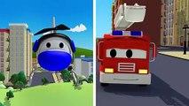 La Super Patrouille, camion pompier et voiture de police, la peinture à l'encre invisible à Car City