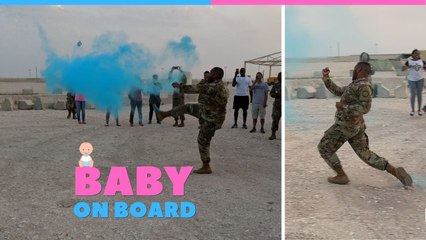 Surprise Military Gender Reveal At Overseas Base