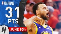 Stephen Curry Full Game 5 Highlights Warriors vs Raptors 2019 NBA Finals - 31 Pts, 7 Ast, 8 Reb-