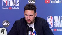 Klay Thompson Postgame Interview - Game 5 - Warriors vs Raptors - 2019 NBA Finals