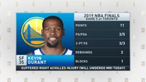 The Jim Rome Show: Kevin Durant suffers Achilles injury in Game 5