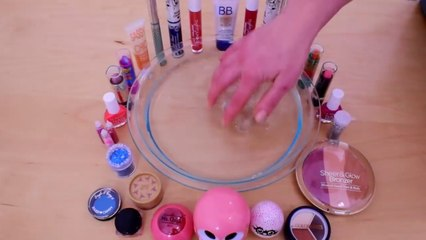 Mixing Makeup Into Clear Slime ! SATISFYING SLIME VIDEO !
