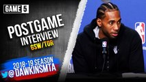 Kawhi Leonard Postgame Interview - Game 5 - Raptors vs Warriors - 2019 NBA Finals