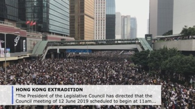 Thousands protest in Hong Kong ahead of extradition bill vote