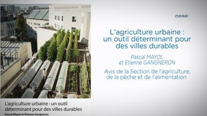 L'agriculture urbaine: un outil déterminant pour des villes durables - cese