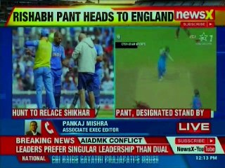 After Shikhar Dhawan's injury Rishabh Pant will be joining team India in England