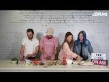 San Cisco show off their cooking skills in the BRAG kitchen