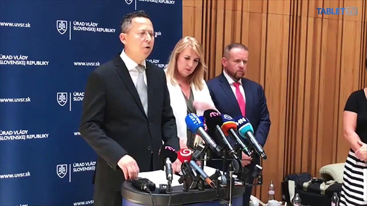 ZÁZNAM:  Brífing ministra financií Ladislava Kamenického a prezidentky finančnej správy Lenky Wittenbergerovej