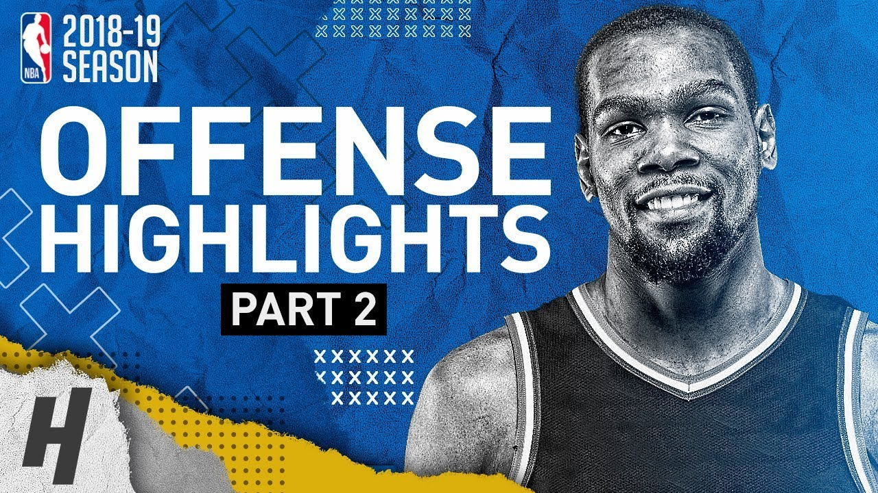 Kevin Durant BEST Offense Warriors Highlights from 2018-19 NBA Season- MVP Mode (Part 2)