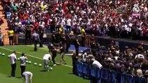 Luka Jovic pisa el Santiago Bernabéu con la camiseta del Real Madrid por primera vez