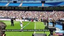 Luka Jovic presentado como jugador del Real Madrid