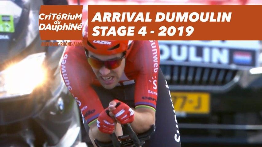 Arrival Dumoulin - Étape 4 / Stage 4 - Critérium du Dauphiné 2019