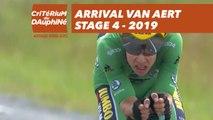 Arrival Van Aert - Étape 4 / Stage 4 - Critérium du Dauphiné 2019