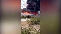 Une usine est actuellement en feu à 5 mn de la plateforme de Diamniadio, juste après Arena Dakar