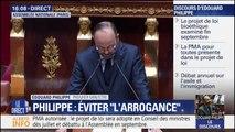 Édouard Philippe conclut son discours en engageant la responsabilité de son gouvernement devant l'Assemblée nationale