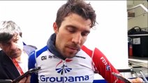 La réaction de Thibaut Pinot (Groupama-FDJ) à l'arrivée du chrono du Critérium du Dauphiné