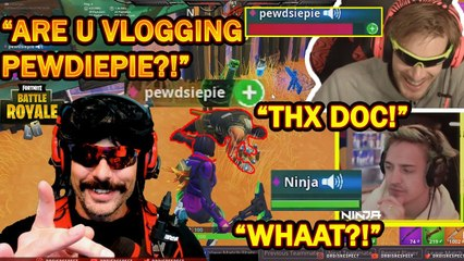 DrDisrespect's FIRST DUO With PewDiePie & Ninja In Fortnite Tourney! (HILARIOUS!) | Fortnite Battle Royale