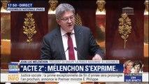 """Jean-Luc Mélenchon s'adresse à Edouard Philippe: """"Toute votre politique est un passage en force contre le pays"""""""