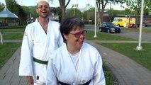 Judo : Caroline Fillion est la première trisomique à obtenir sa ceinture noire au Canada