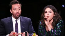 Selena Gomez Takes on the 'Hot Ones' Challenge With Jimmy Fallon | Billboard News