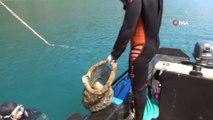 Göcek'te deniz dibi temizliği