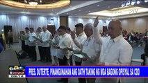 Pres. #Duterte, pinangunahan ang oath taking ng mga bagong opisyal sa CDO