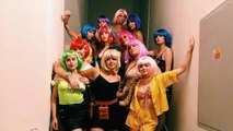 Sophie Turner 'Wigs-Out' at Bachelorette Party with Maisie Williams -- See the Pics!