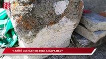 Bizans dönemine ait yapıların bulunduğu cami defineciler tarafından talan ediliyor