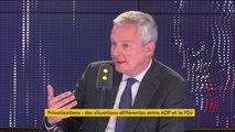 """PMA pour toutes : Bruno Le Maire dit avoir """"toujours eu des interrogations"""" mais se dit prêt à """"évoluer dans ses convictions"""""""
