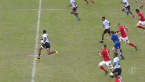 Taniela Ramasibana scores breakout try for Fiji
