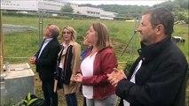 Inauguration du panneau présentant le chantier d'extension dans l' agro-alimentaire de l'EPL Agro à Bar-le-Duc