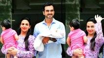 Esha Deol & Bharat Takhtani's daughter Miyara first photo revealed; Watch video | FilmiBeat