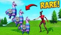 SUPER RARE 3 LLAMAS IN 1 SPOT! - Fortnite Funny Fails and WTF Moments!