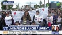 Lorient: une marche blanche en hommage aux enfants percutés par un chauffard