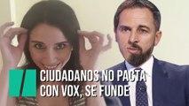 """""""Ciudadanos no pacta con Vox, se funde"""", por Marta Flich"""