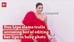 Dua Lipa Claps Back At Baby Photo Haters