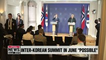 Moon says inter-Korean summit in June is physically possible