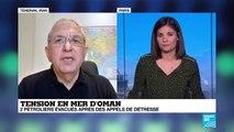 Deux pétroliers ont été victimes d'avaries suspectes en mer d'Oman
