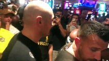 LAS VEGAS MOB! - TYSON FURY IS MOBBED, ATTEMPTS TO LEAVE WORKOUT- FOLLOWED ALL THE WAY TO HIS CAR!