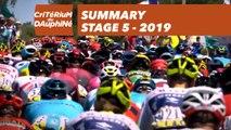 Summary - Stage 5 - Critérium du Dauphiné 2019