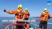 L'hommage de la SNSM au pays basque aux sauveteurs disparus aux Sables d'Olonne