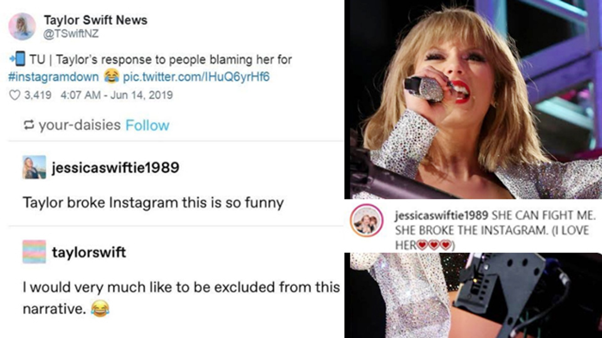 Taylor Swift Has The Best Response To People Blaming Her For Instagram Crash!