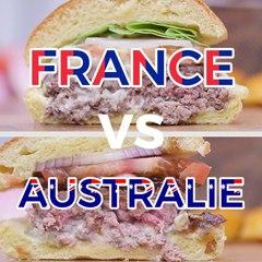 Burger français VS Aussie Burger