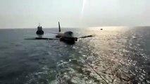 Cet avion Boeing 747 a été plongé dans l'eau pour un parc d'attraction à Dive Bahrain