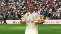 (Subtitled) 'It was a dream to play for Real Madrid' says new signing Hazard