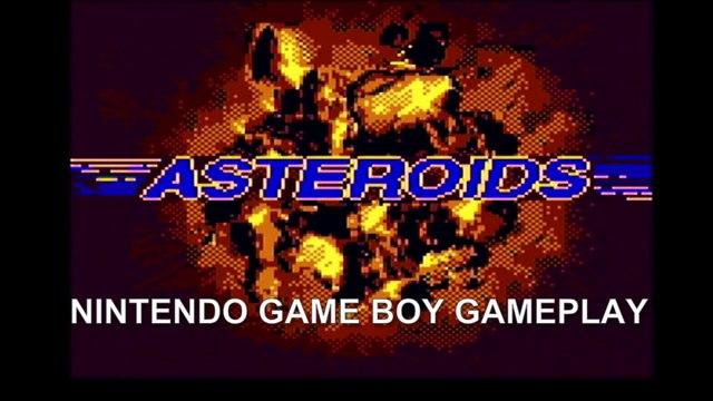 ASTEROIDS - Nintendo Game Boy Gameplay (1995)