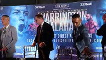 SERIOUSLY INTENSE! - JOSH WARRINGTON v KID GALAHAD (OFFICIAL) HEAD-TO-HEAD @ FINAL PRESS CONFERENCE