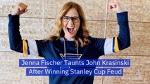 Jenna Fischer'sTeam Wins The Stanley Cup