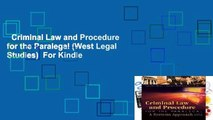 Criminal Law and Procedure for the Paralegal (West Legal Studies)  For Kindle